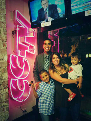 Luis Vasquez and family at CCTV